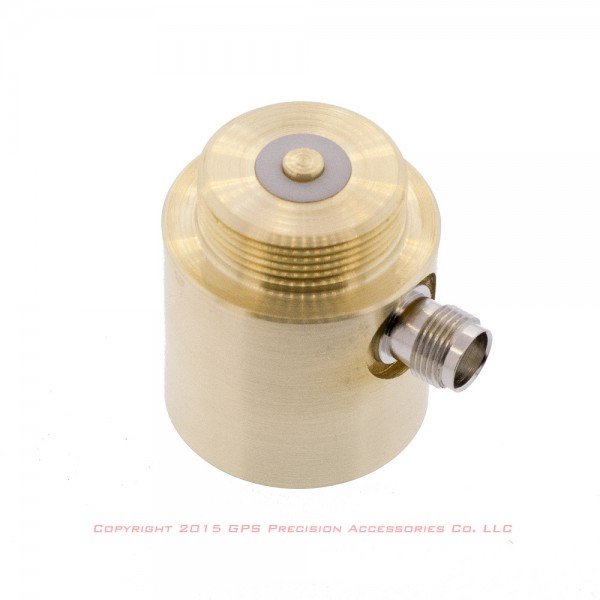Antenna Adapter, Brass, Base Radio, for NMO Style Antenna Threads: click to enlarge