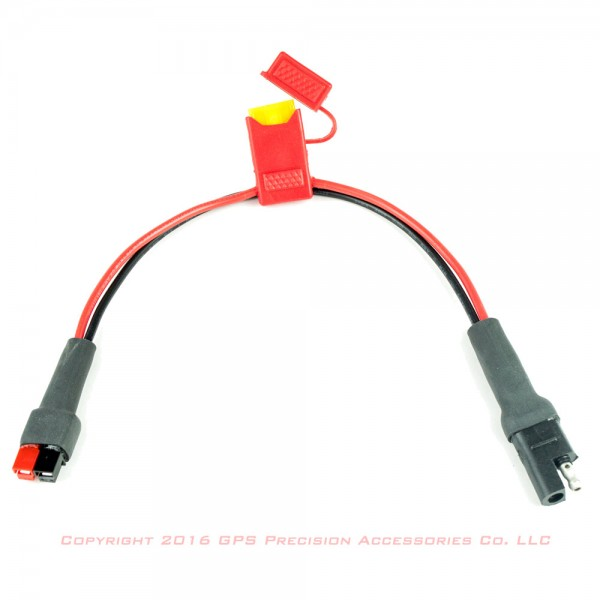 SAE 2-pin to Power Pole Adapter, fused: click to enlarge